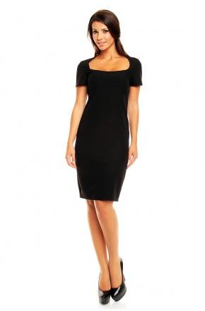 Klasyczna sukienka z krótkim rękawkiem KM152