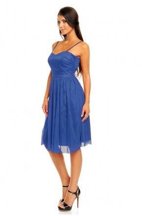 Tiulowa sukienka na ramiączkach KM160