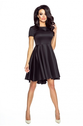 Asymetryczna sukienka z krótkim rękawkiem KM181
