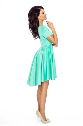 Asymetryczna sukienka z krótkim rękawkiem KM181-1