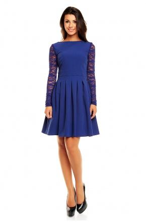 Urocza sukienka z koronkowymi rękawami KM158-2