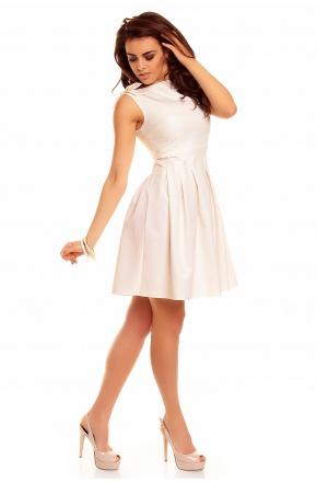 Rozkloszowana sukienka z kokardami na wesele KM112-5