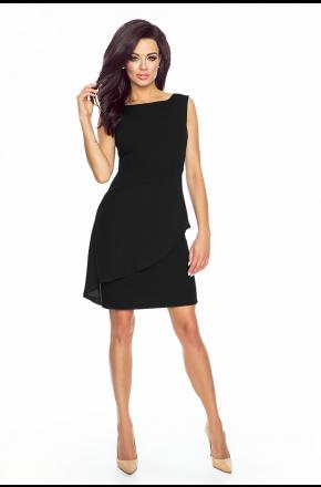 Sukienka z asymetryczną baskinką KM186