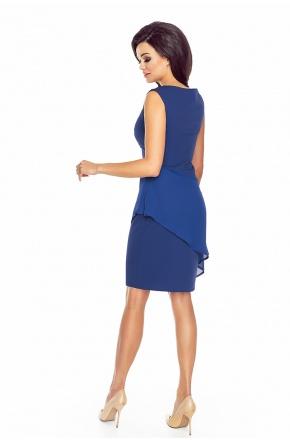 Sukienka z asymetryczną baskinką KM186-2