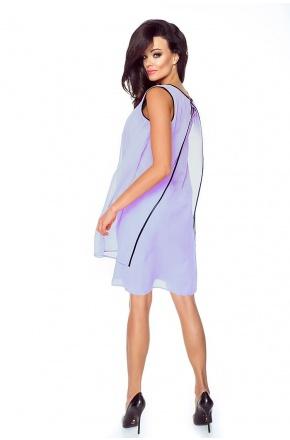 Warstwowa sukienka z szyfonu KM187-1 WRZOS