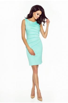 Prosta sukienka z zaszewkami KM188-3