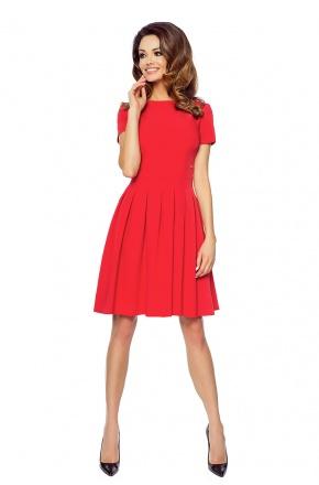 Sukienka z rozkloszowaną spódnicą KM127-1