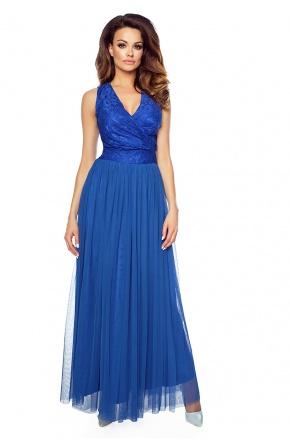 Balowa suknia z tiulu i koronki KM151-2