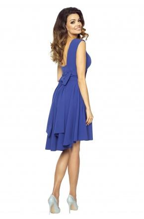Sukienka z asymetrycznym dołem i kokardą KM191-2