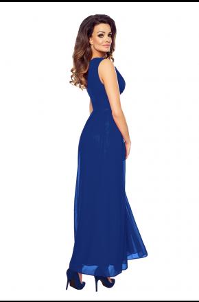 Wieczorowa suknia z szyfonu kopertowy dekolt KM150-2