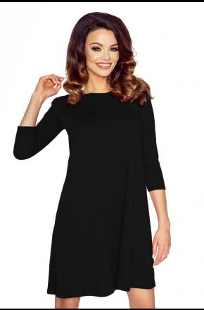 Sukienka tunika w kształcie litery A  KM119-4 czarna