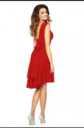 Sukienka z asymetrycznym dołem i kokardą KM191-1