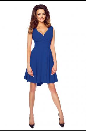 Seksowna asymetryczna sukienka z dekoltem KM155-2