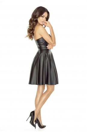 bb6c377a751dc2 Czarna gorsetowa skórzana sukienka km128. KARTES-MODA®