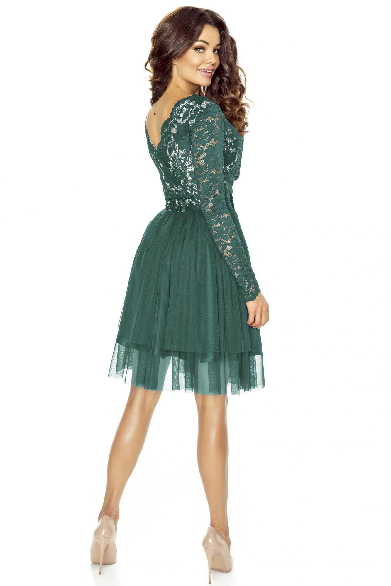 Sukienka wieczorowa z tiulu i koronki km242 3 ❤ Kartes