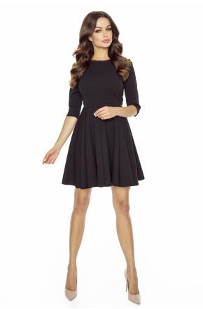 Czarna rozkloszowana mini sukienka KM249