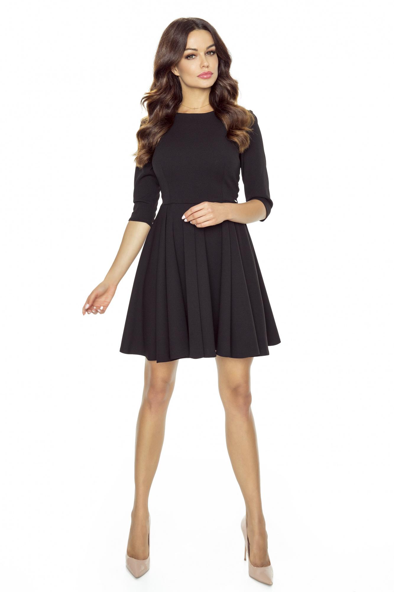 90ac875941 Czarna rozkloszowana mini sukienka KM249 - ❤ Kartes-Moda ❤