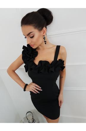 Wieczorowa mini sukienka z falbankami km250