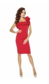 Czerwona mini idealnie sprawdzi się jako strój na randkę, sylwestra, dyskotekę lub bal karnawałowy.