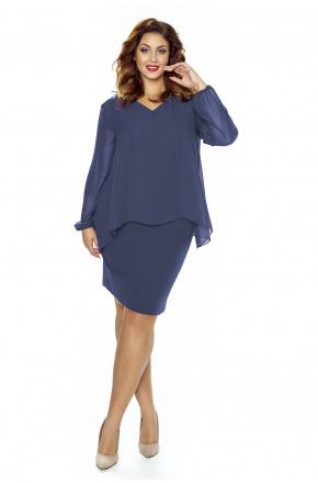 Sukienka z szyfonową bluzką KM251-3