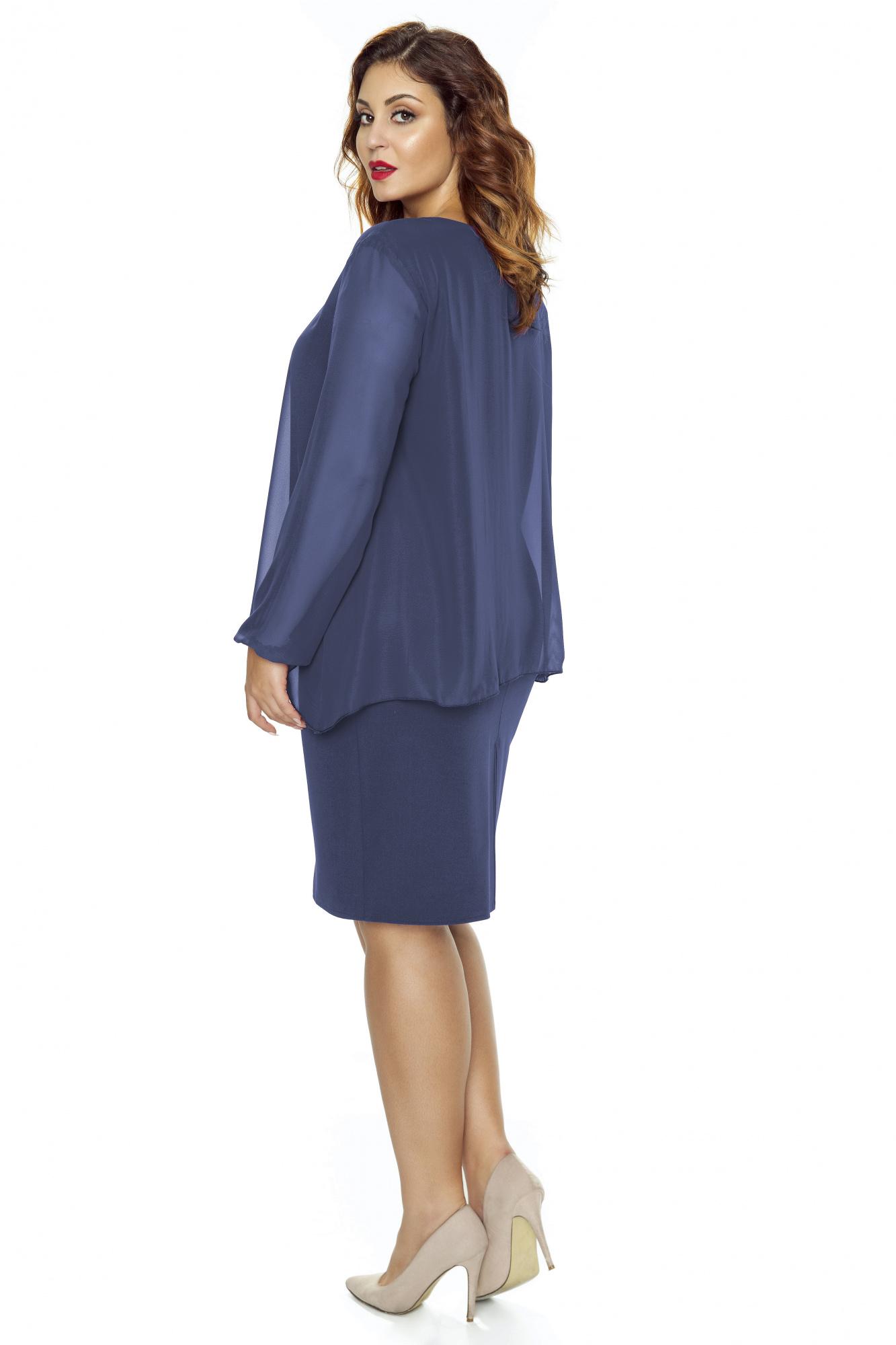 39976ac3f62251 Sukienka z szyfonową bluzką KM251-3 - ❤ Kartes-Moda ❤