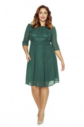 Koktajlowa sukienka z szyfonu km211-6ps