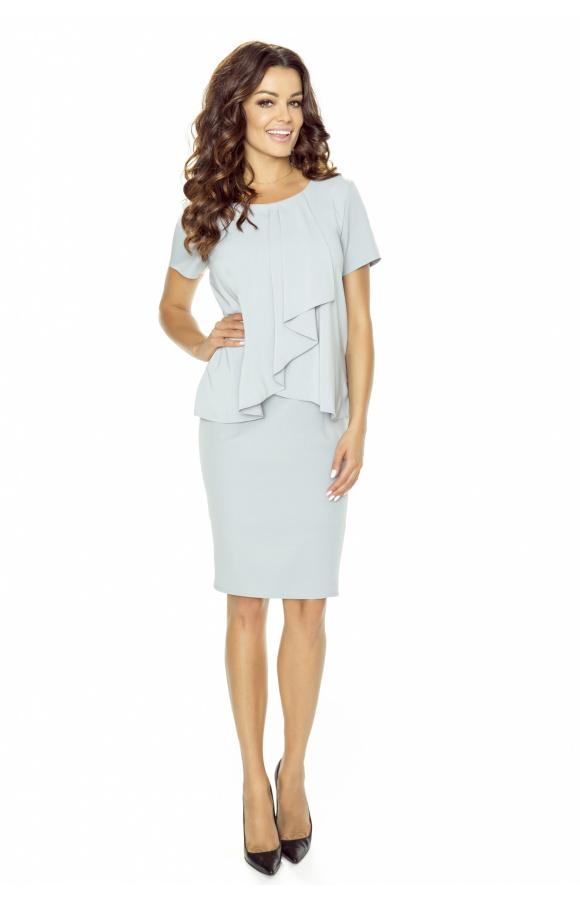 Wyjątkowa sukienka mini z krótkim rękawem o ponadczasowym fasonie i modnym designie.