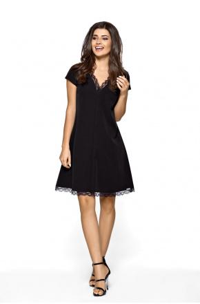 Trapezowa elegancka sukienka z koronką km262