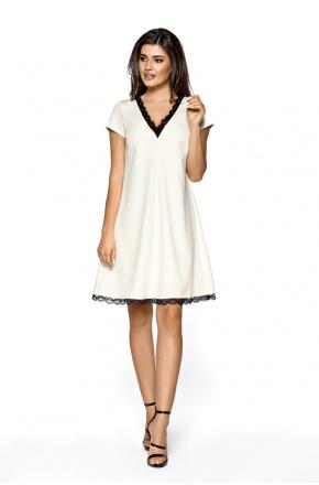 Trapezowa elegancka sukienka z koronką km262-3