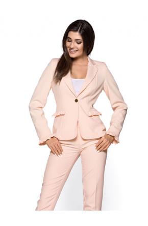 Elegancki garnitur damski z falbankami KM265-3