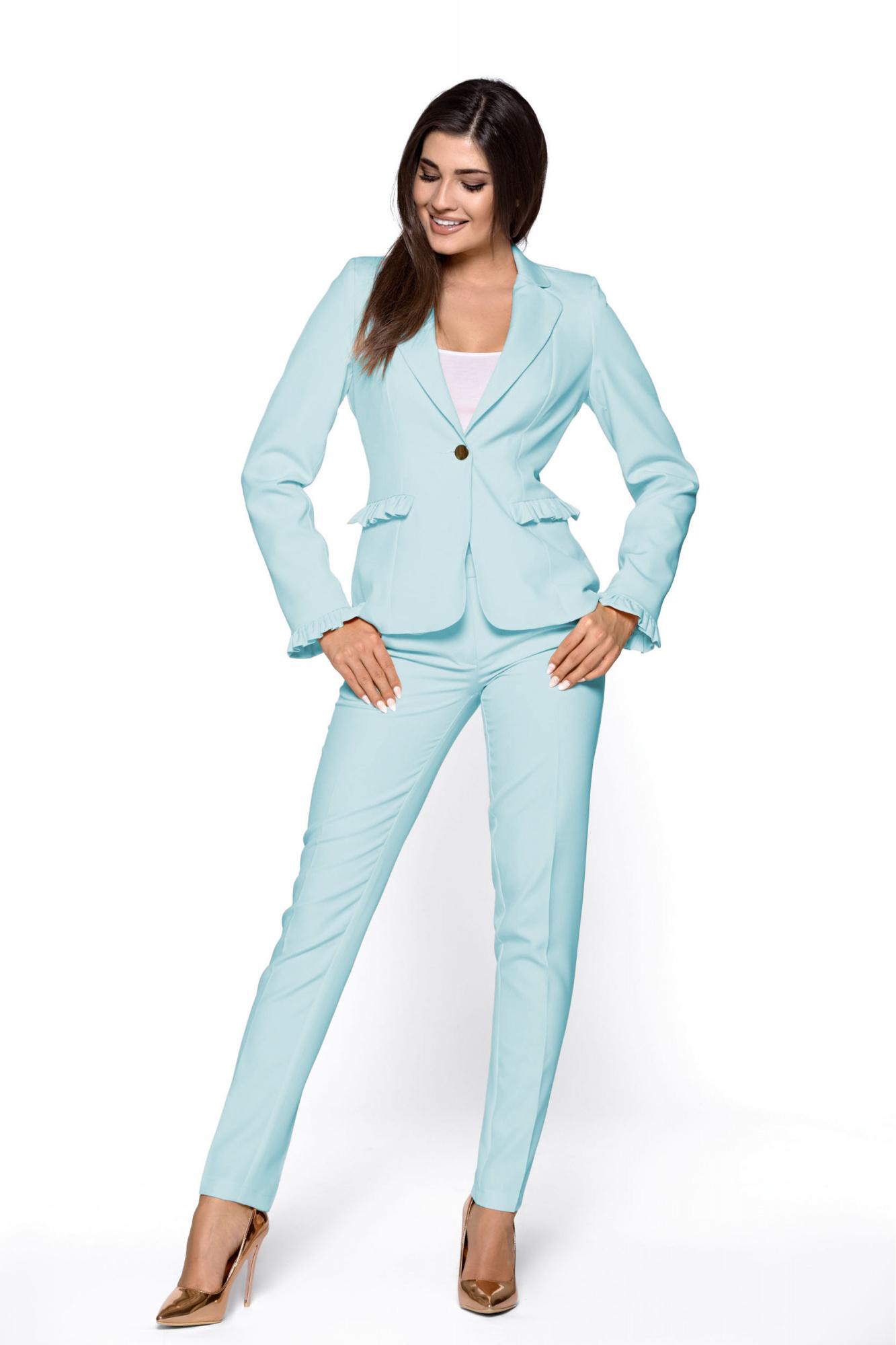 04f83af07b Elegancki garnitur damski z falbankami KM265-5 - ❤ Kartes-Moda ❤