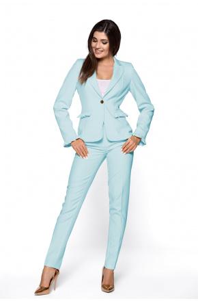 Elegancki garnitur damski z falbankami KM265-5