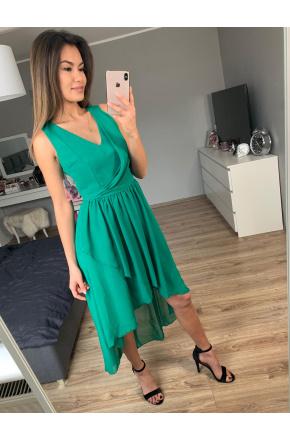 Asymetryczna sukienka z szyfonu KM268-5