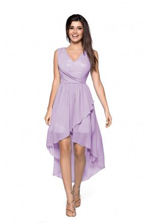 Asymetryczna sukienka z szyfonu KM268-4