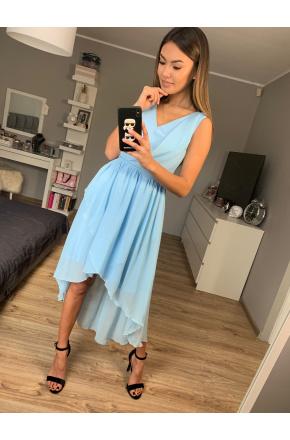 Asymetryczna sukienka z szyfonu KM268-6