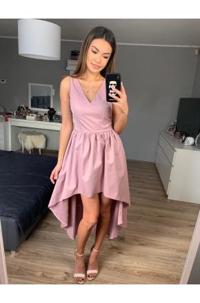 Wieczorowa asymetryczna suknia KM269