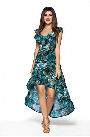 Asymetryczna sukienka hiszpanka palmy km270-3