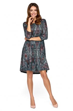 Dzianinowa sukienka w romby KM273