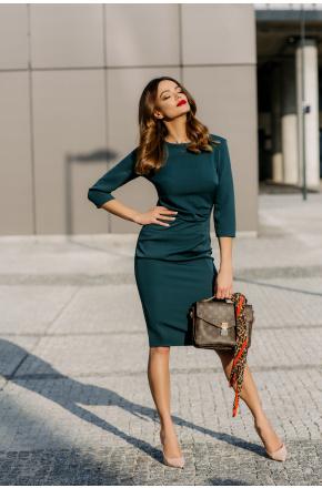 Elegancka sukienka z drapowaniem km285-5