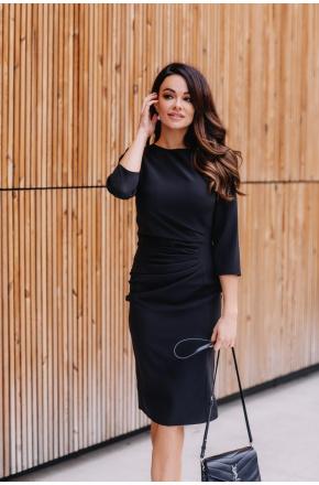 Elegancka sukienka z drapowaniem km285