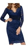 Dopasowana sukienka mini z szerokim pasem w talii, który seksownie podkreśla kobiece kształty.