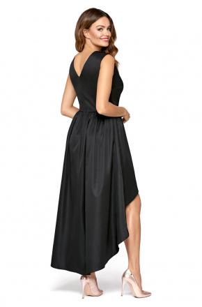 Wieczorowa asymetryczna sukienka maxi km292
