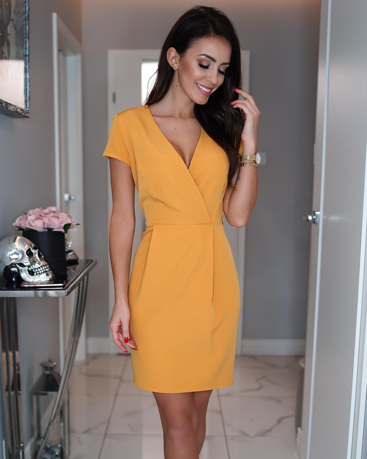 fd1b0c1c12 Elegancka sukienka z kopertowym dekoltem KM295-7 - ❤ Kartes-Moda ❤