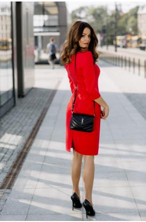 Klasyczna elegancka sukienka z zamkiem KM294-1