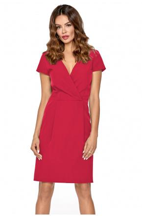 Elegancka sukienka z kopertowym dekoltem KM295-1