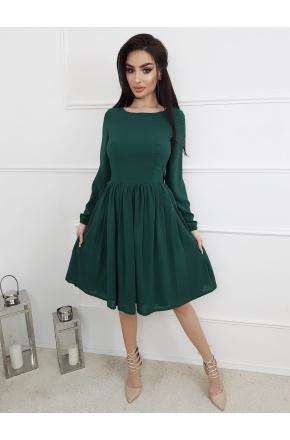 Zita -Rozkloszowana sukienka z szyfonu KM299-6