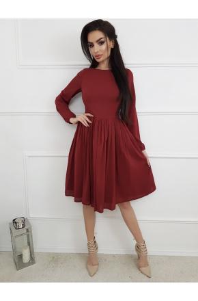 Zita -Rozkloszowana sukienka z szyfonu KM299-4