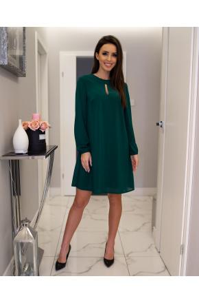 Lita -Trapezowa sukienka z szyfonu KM300-6