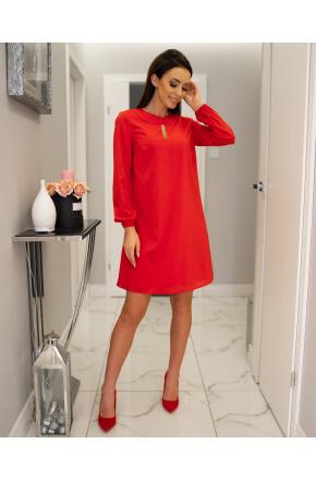 Lita - Trapezowa sukienka z szyfonu KM300-1