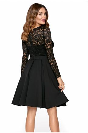 Ria -Wizytowa sukienka z koronkową górą KM301